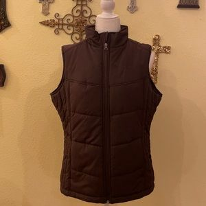 Port Authority Brown  Puffy Vest